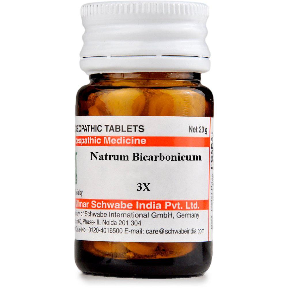Willmar Schwabe India Natrum Bicarbonicum 3X 20g