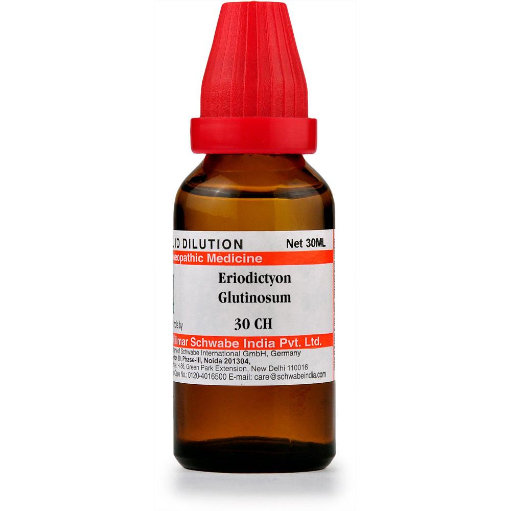 Willmar Schwabe India Eriodictyon Glutinosum 30 CH 30ml