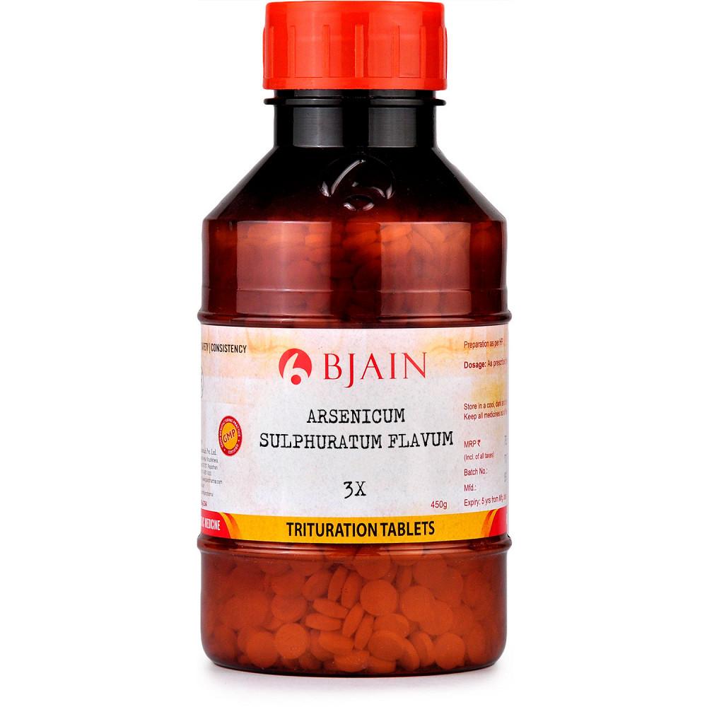 B Jain Arsenicum Sulphuratum Flavum 3X 450g