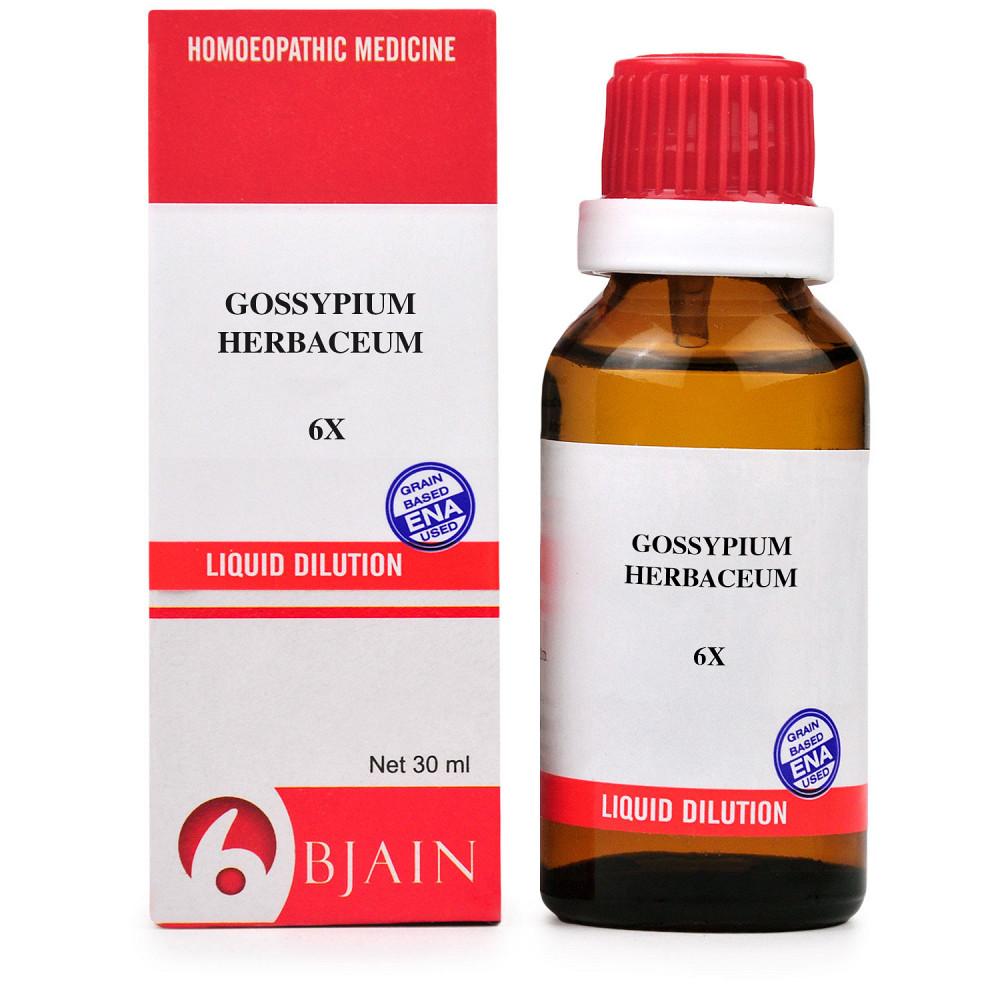 B Jain Gossypium Herbaceum 6X 30ml