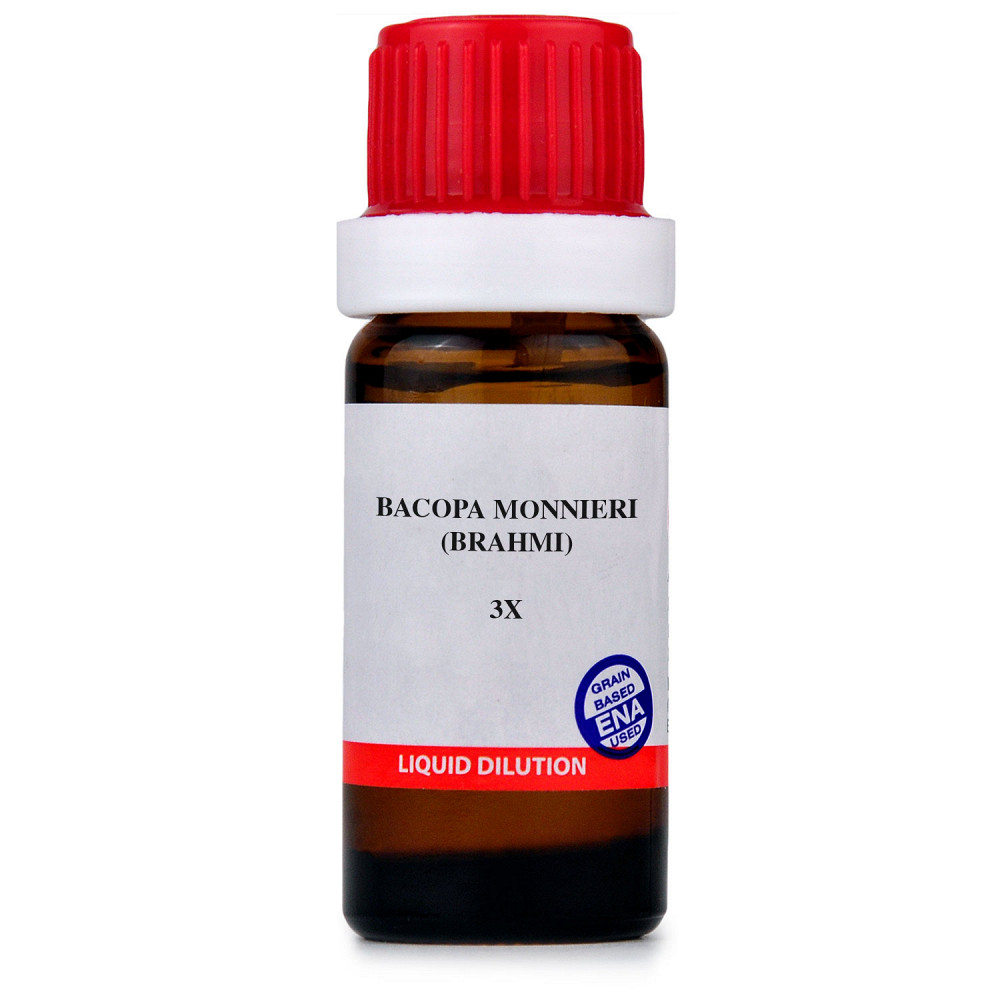 B Jain Bacopa Monnieri Brahmi 3X 10ml