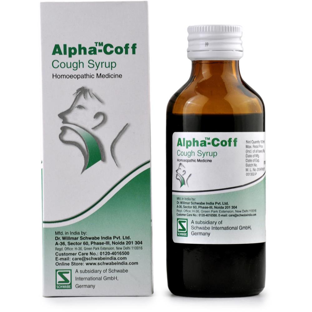Willmar Schwabe India Alpha Coff Cough Syrup 100ml