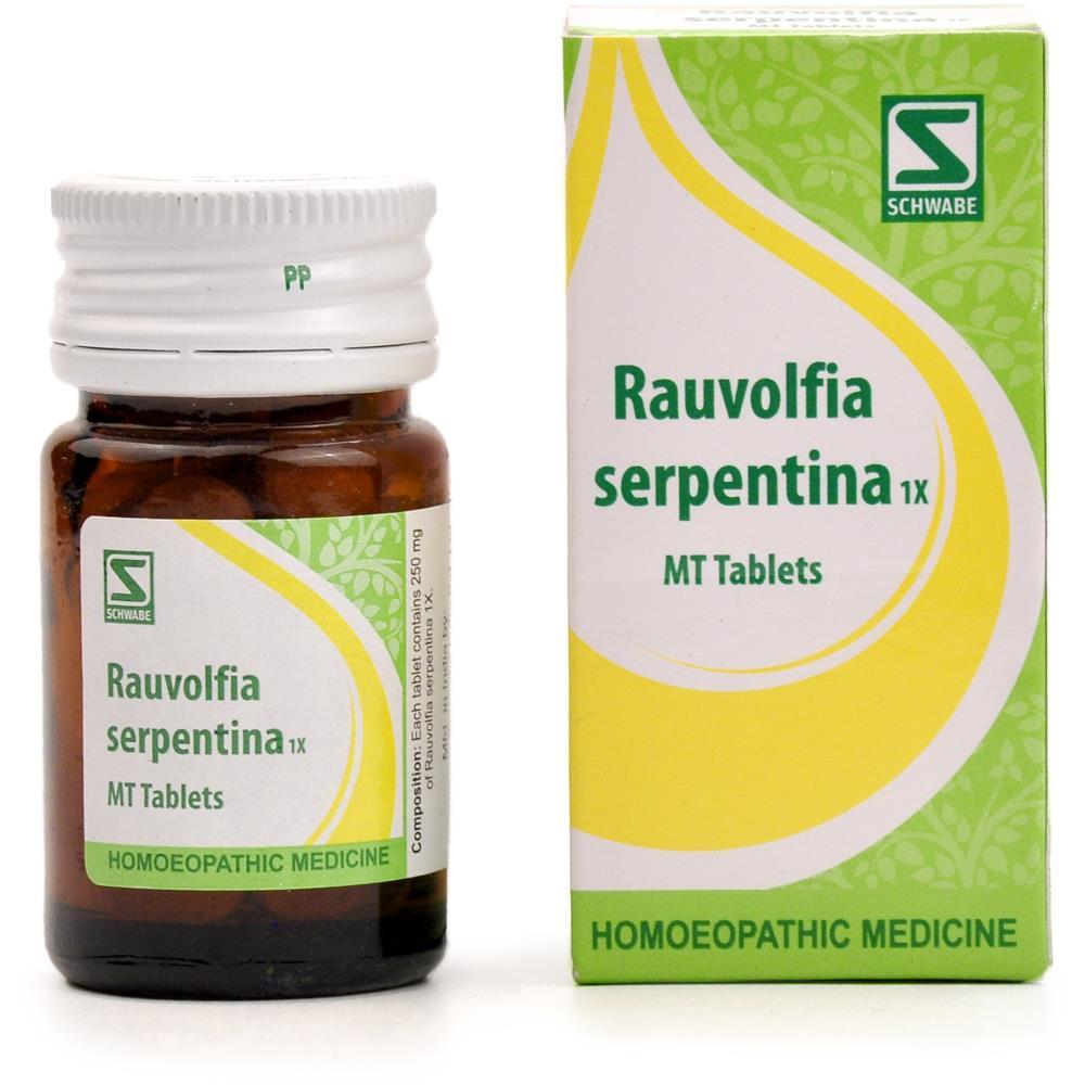 Willmar Schwabe India Rauvolfia Serpentina 1X Tablets 20g