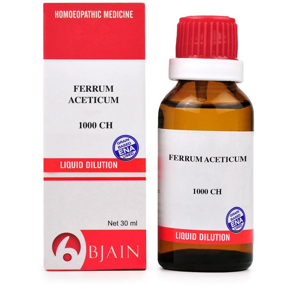 B Jain Ferrum Aceticum 1M 1000 CH 30ml