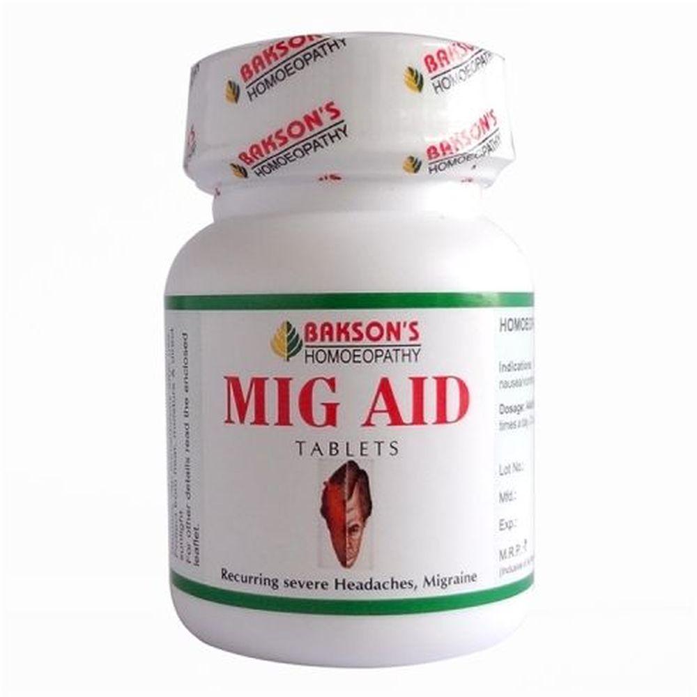 Bakson Mig Aid Tablets 75tab