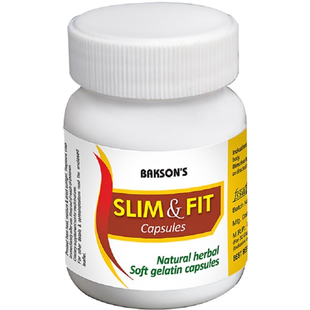 Bakson Slim and Fit Soft Gelatin Capsules 30caps