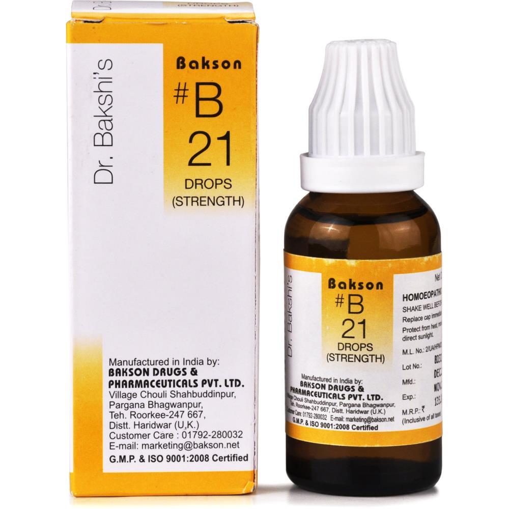 Bakson B21 Strength Drops 30ml