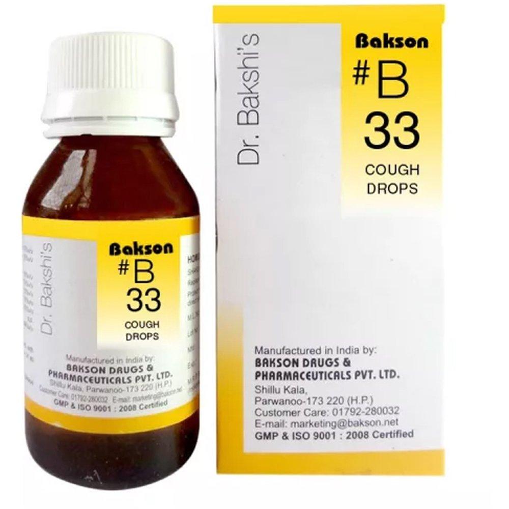 Bakson B33 Cough Drops 30ml