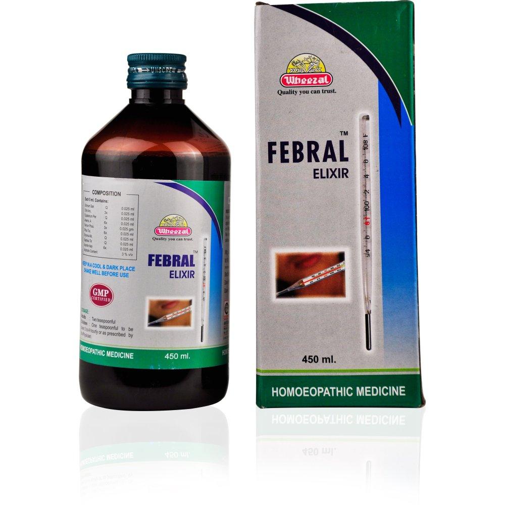 Wheezal Febral Elixir Syrup 450ml