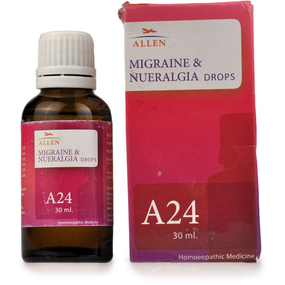 Allen A24 Migrane & Neuralgia Drops 30ml