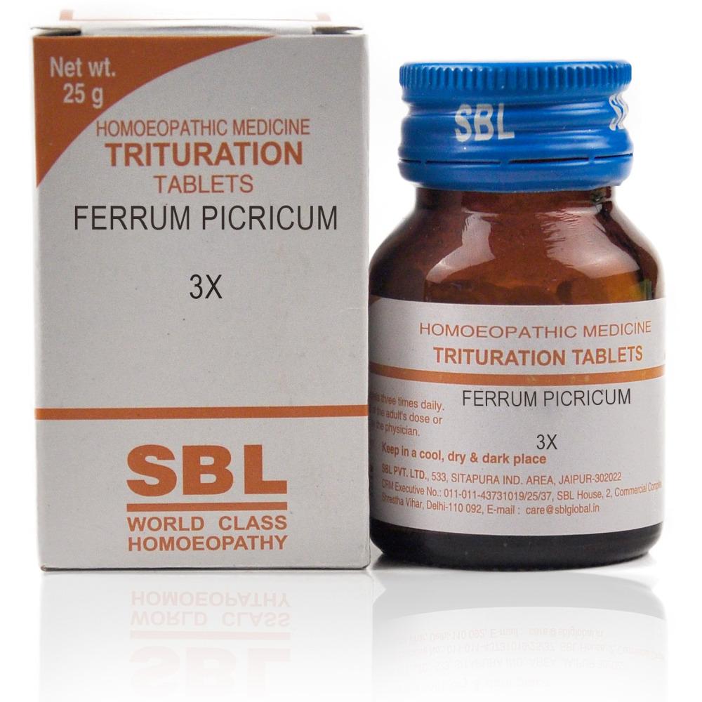 SBL Ferrum Picricum 3X 25g